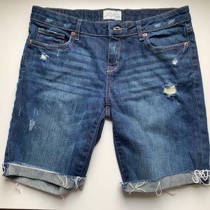 Aeropostale's thigh denim shorts